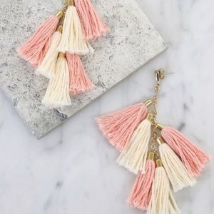 "Ettika ""day dreamer"" tassel earrings."